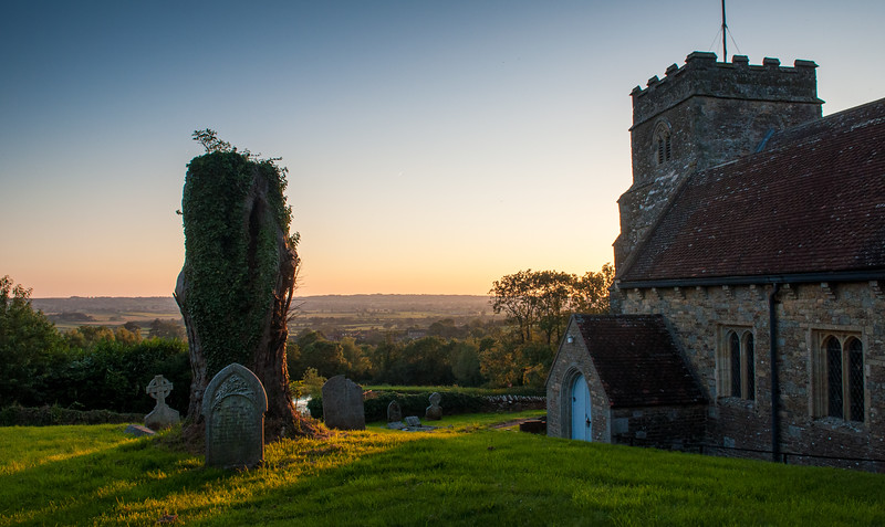 Kington Magna sunset
