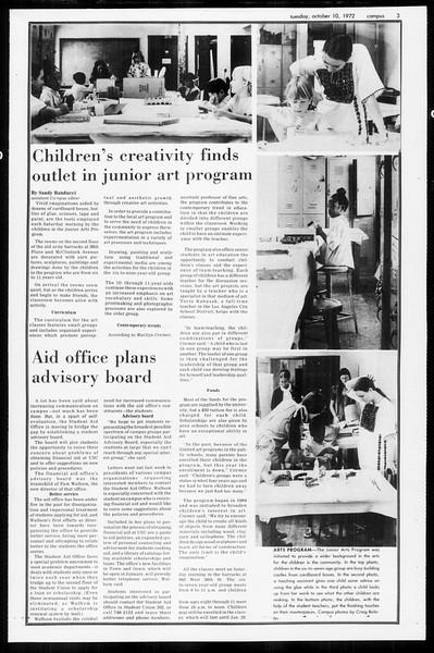 Daily Trojan, Vol. 65, No. 16, October 10, 1972