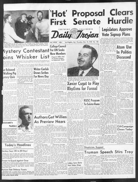 Daily Trojan, Vol. 39, No. 102, March 18, 1948