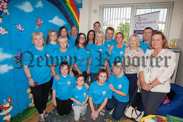 Pictured in the Cruse Bereavement Care Room in Memory of Ella Trainor are members of Eoin's Family. R1725010