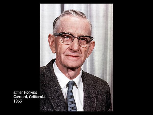 Elmer Henry Hopkins, Concord, California in 1963.