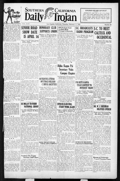 Daily Trojan, Vol. 17, No. 86, February 11, 1926