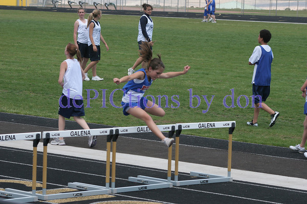 Middle School track meet at Galena HS