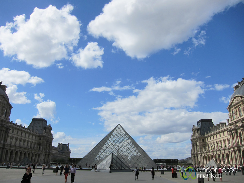 Louvre Courtyard and Pyramid - Paris