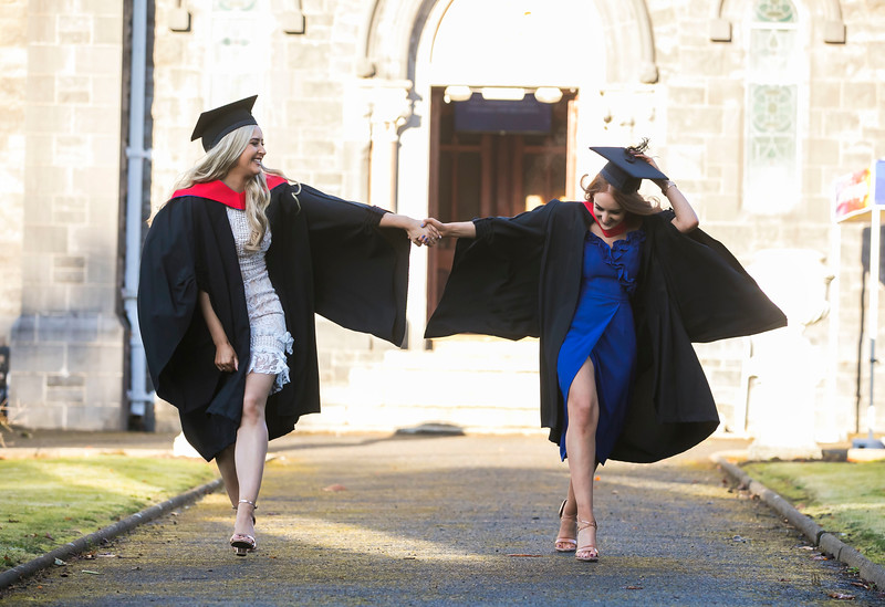01/11/2018. Waterford Institute of Technology (WIT) Conferring Ceremonies 2018. Pictured are Sarah O'Shea Newbridge and Kay Hogan Laois. Picture: Patrick Browne
