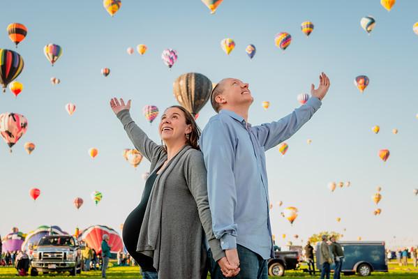 Albuquerque Balloon Fiesta Twins Maternity Session