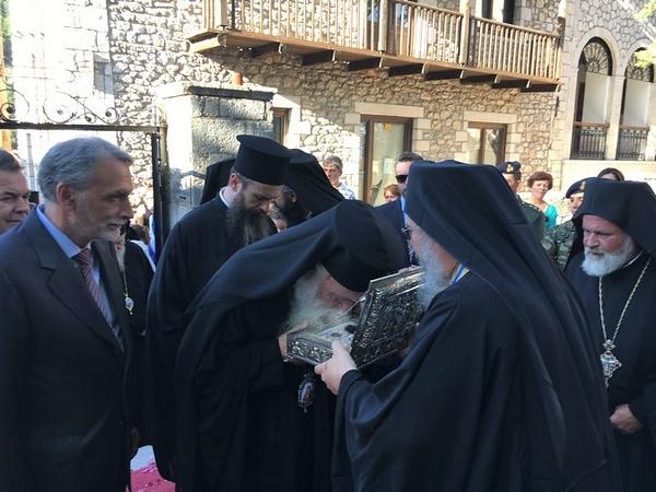 Λείψανα του Αγ. Γρηγορίου Ε' από τη Μονή Εσφιγμένου στη Δημητσάνα