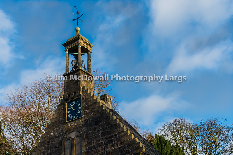 Ancient Historical Church Building and its Weather vane with Plogh Design on Saint John's Kirk. Scotland.