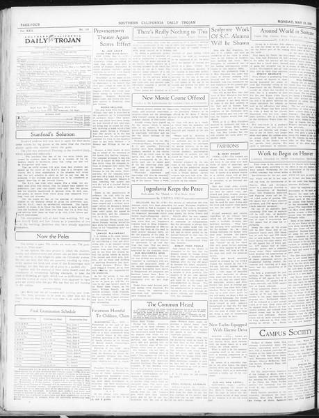 Daily Trojan, Vol. 22, No. 150, May 25, 1931