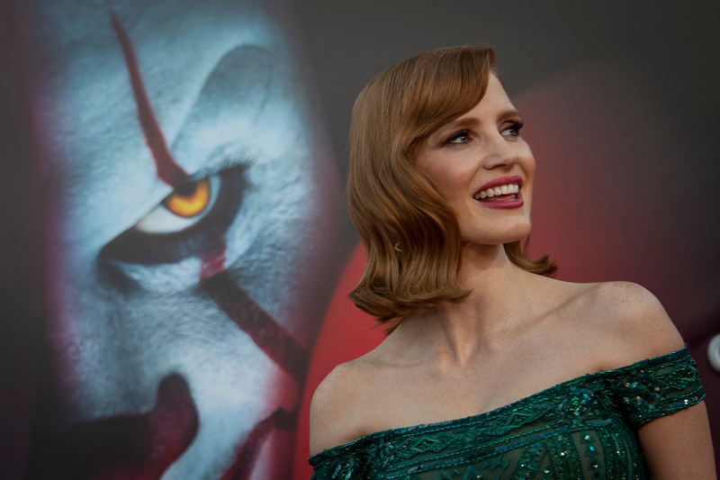 """WESTWOOD, CA - AUGUST 26: Jessica Chastain attends the Premiere Of Warner Bros. Pictures' """"It Chapter Two"""" at Regency Village Theatre on Monday, August 26, 2019 in Westwood, California. (Photo by Tom Sorensen/Moovieboy Pictures)"""