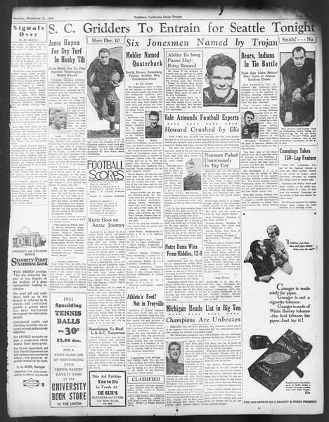 Daily Trojan, Vol. 24, No. 50, November 21, 1932