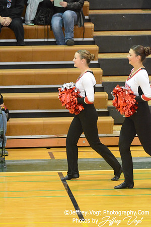 01/18/2014 Quince Orchard HS Poms Division 2 at Damascus HS,  Photos by Jeffrey Vogt Photography & Kyle Hall