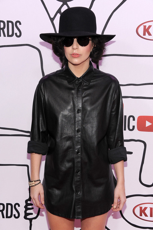. Singer Lady Gaga attends the YouTube Music Awards 2013 on November 3, 2013 in New York City.  (Photo by Dimitrios Kambouris/Getty Images)