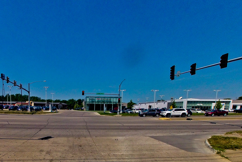 Intersection and Blue Sky