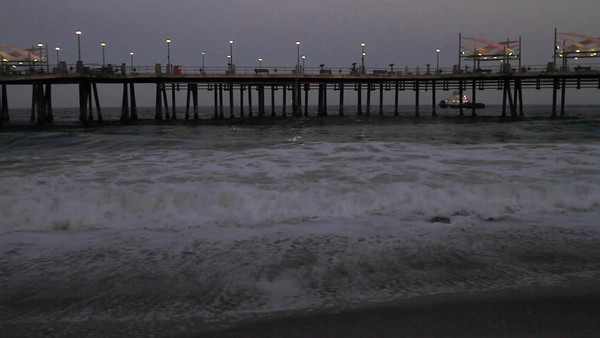 Sunrise Waves Redondo Beach Pier
