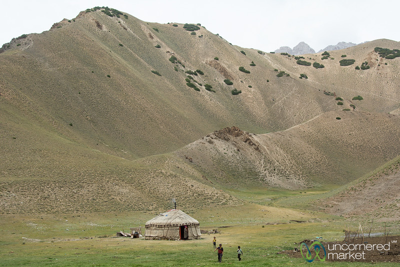Yurt in the Alay Mountains - Kyrgyzstan