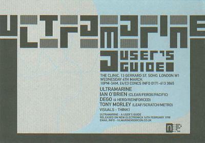 Even less nigritude a flyer for Ultramarine