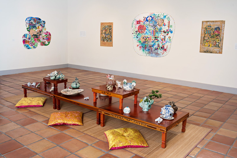 Jiha Moon: Double Welcome, Most Everyone's Mad Here, Installation View