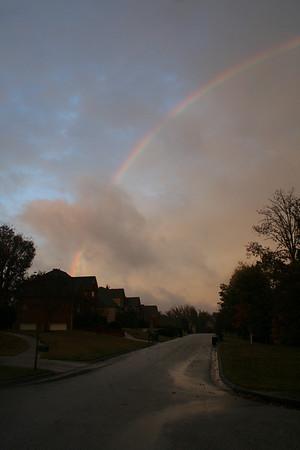 Plane Under Rainbow
