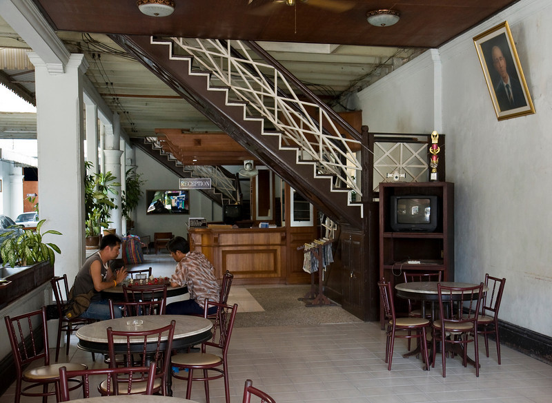 Reception area of historic On On Hotel in Phuket Town