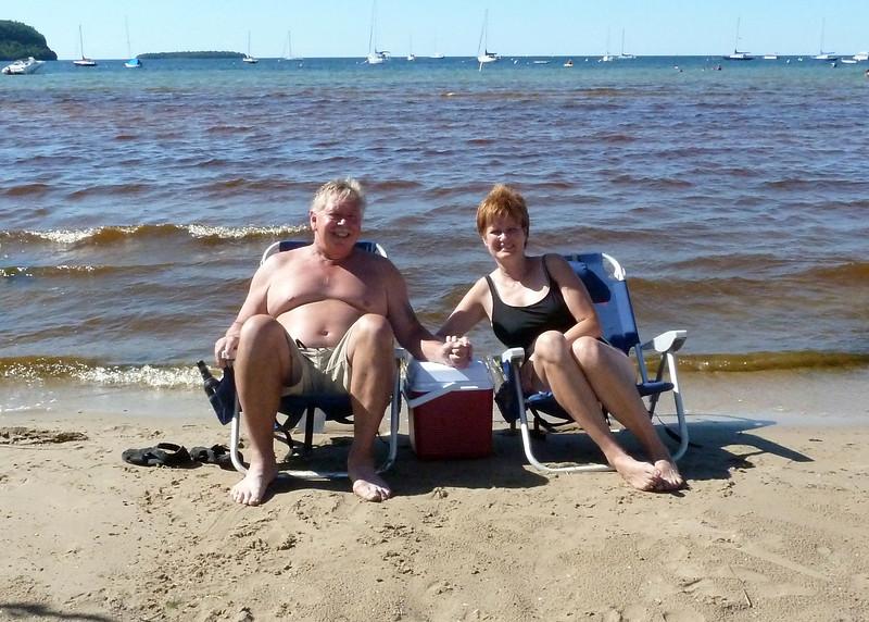 Joy & Me at Ephraim beach July 2010.jpg