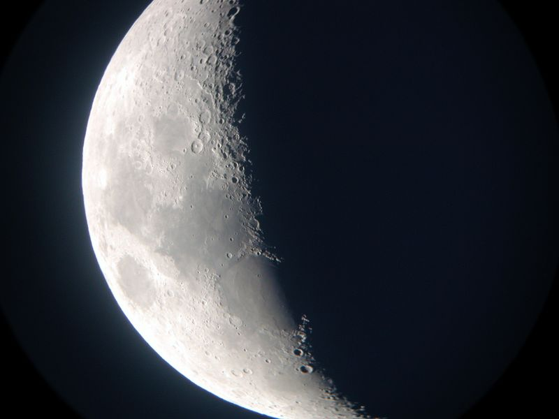 This is a hand held image of the moon...not bad!