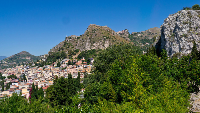 Nosebleed Village over Taormina Sicily
