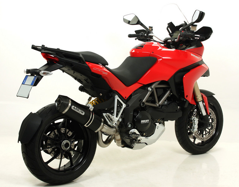 Arrow exhaust system for the Multistrada 1200   http://www.arrow.it/eng/website/  See: Multistrada 1200 Exhausts Systems & Exhaust Modifications   http://www.motorcycleinfo.co.uk/index.cfm?fa=contentGeneric.qsconequekcvtgsq&pageId=2227905
