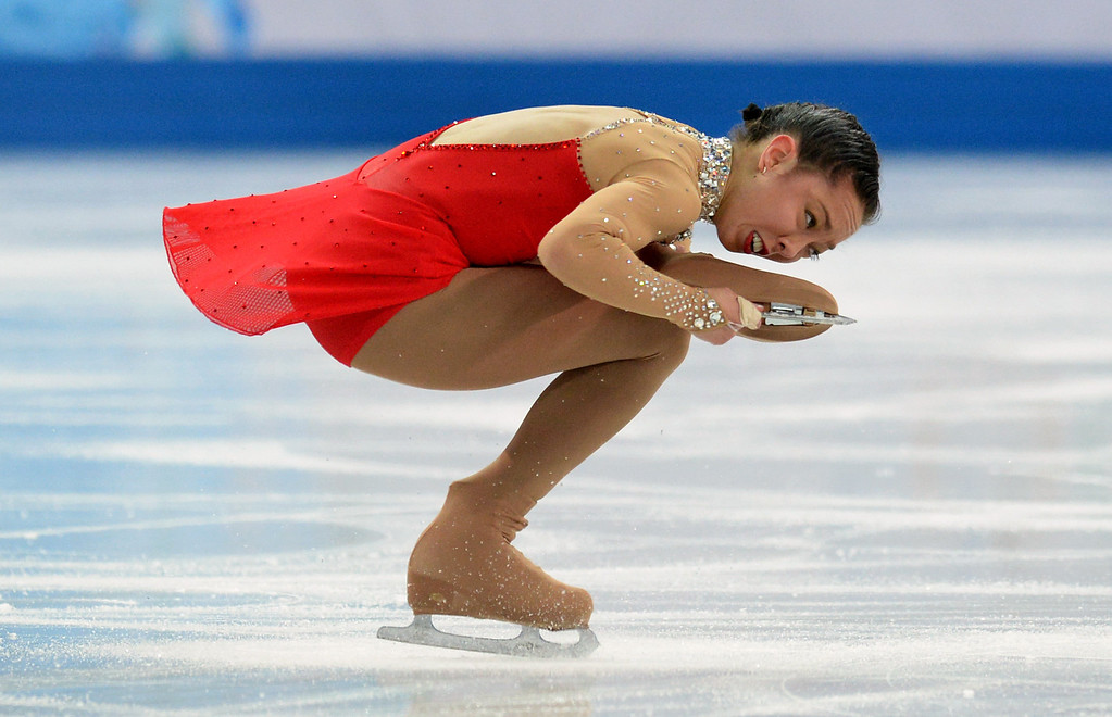 . Australia\'s Brooklee Han performs in the Women\'s Figure Skating Free Program at the Iceberg Skating Palace during the Sochi Winter Olympics on February 20, 2014. YURI KADOBNOV/AFP/Getty Images
