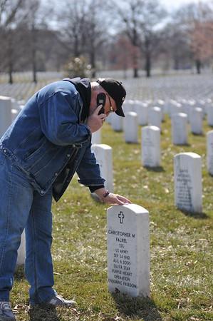 Michael Reagan's Visits Arlington Cemetery