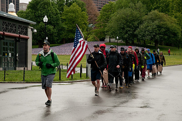 Memorial Weekend - Boston Remembrance Race, The  33k  Flags on the Common