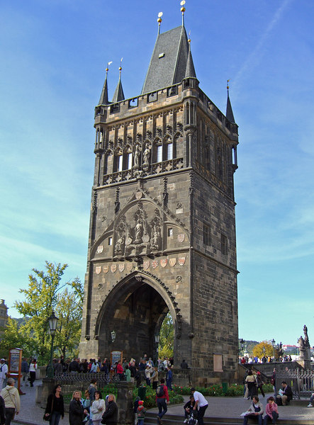East tower ,Charles Bridge. 146 steps to the tower roof to take photos.