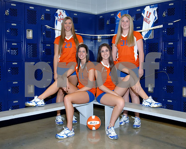 Marshall County Volleyball Seniors  -  August 10, 2008