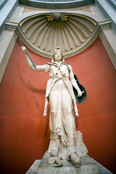 Statue of Juno Sospita with goat-skin, spear and shield, Vatican Museums