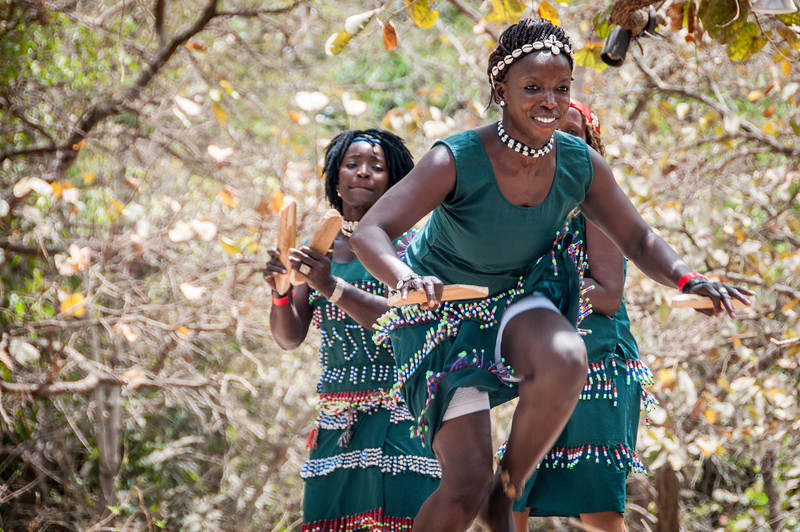 Dancers in Makasutu Cultural Forest in Banjul, Gambia