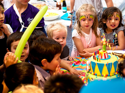 Travis' 5th birthday at Princes Park