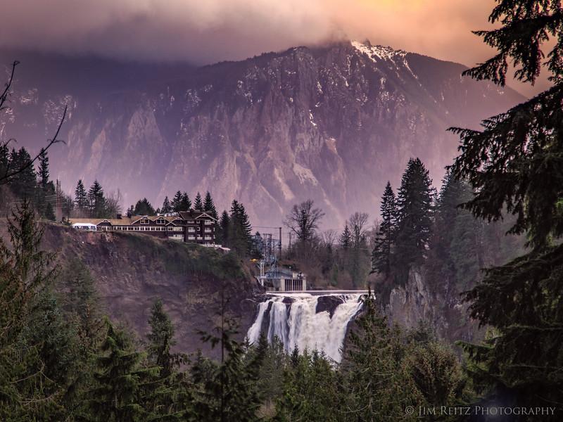 Falls & Mountain