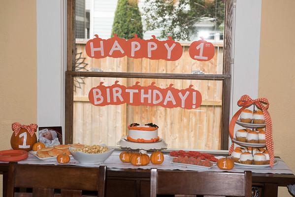 Thomas 1st Birthday Party
