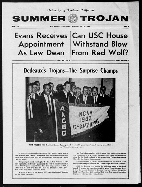 Summer Trojan, Vol. 13, No. 3, July 01, 1963