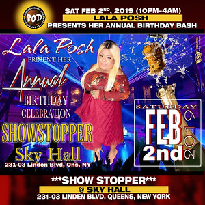 2-2-2019-QUEENS-Lala Posh Birthday Bash Show Stopper