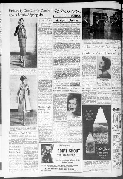 Daily Trojan, Vol. 47, No. 111, April 12, 1956