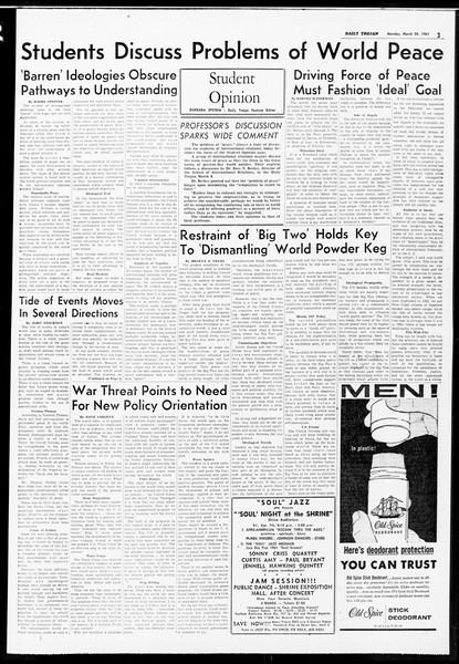 Daily Trojan, Vol. 52, No. 93, March 20, 1961