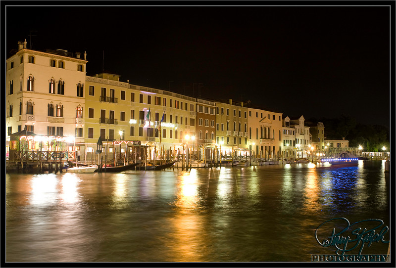 Nighttime at the Grand Canal
