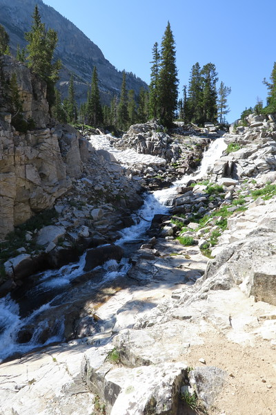 Waterfalls on Cascade Creek - Upper South Cascade Canyon