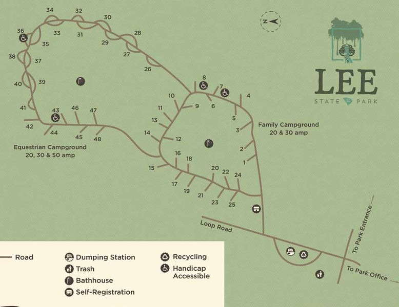 Lee State Park (Campground Map)