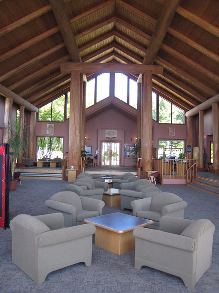 The inside lobby of the lodge