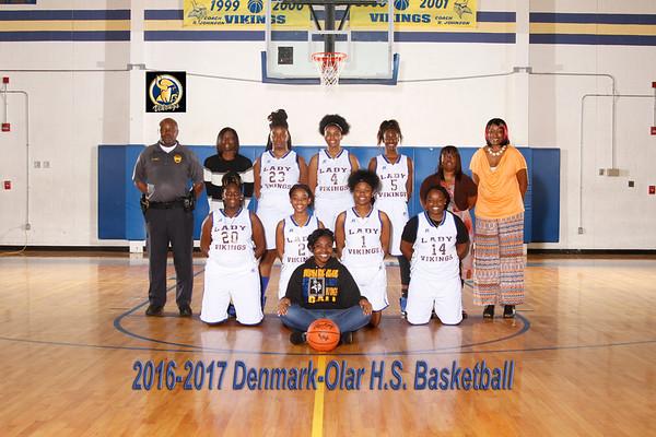 2016-2017 Girl Basketball  Varsity