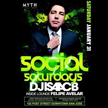 "<font size=""1"">Social Saturdays @ Myth Taverna & Lounge 1.31.15"