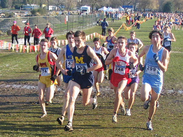 2005 Canadian XC Championships - John Black leads a very competitive pack