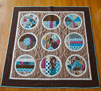 Perfect Puddles--A Circle Quilt
